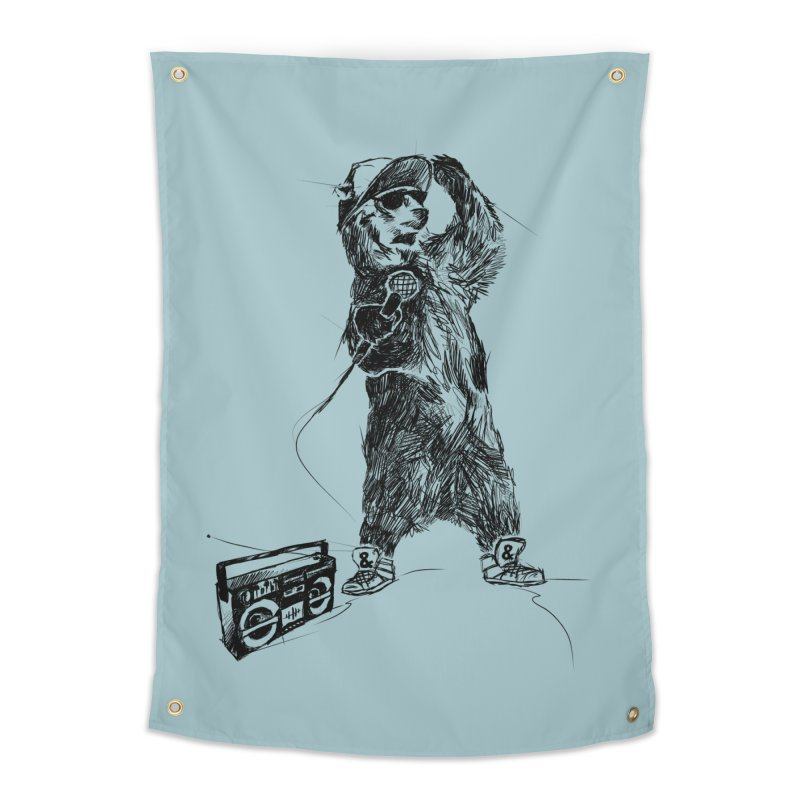 MC Grizzly Home Tapestry by Jimbanzee's Artist Shop