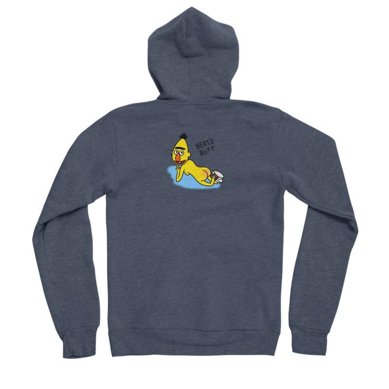 Bert's butt Men's Sponge Fleece Zip-Up Hoody by Jim Tozzi