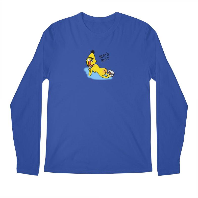 Bert's butt Men's Regular Longsleeve T-Shirt by Jim Tozzi