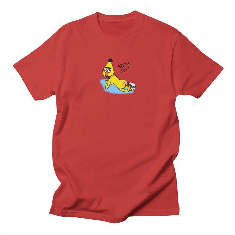 Bert's butt Men's Regular T-Shirt by Jim Tozzi