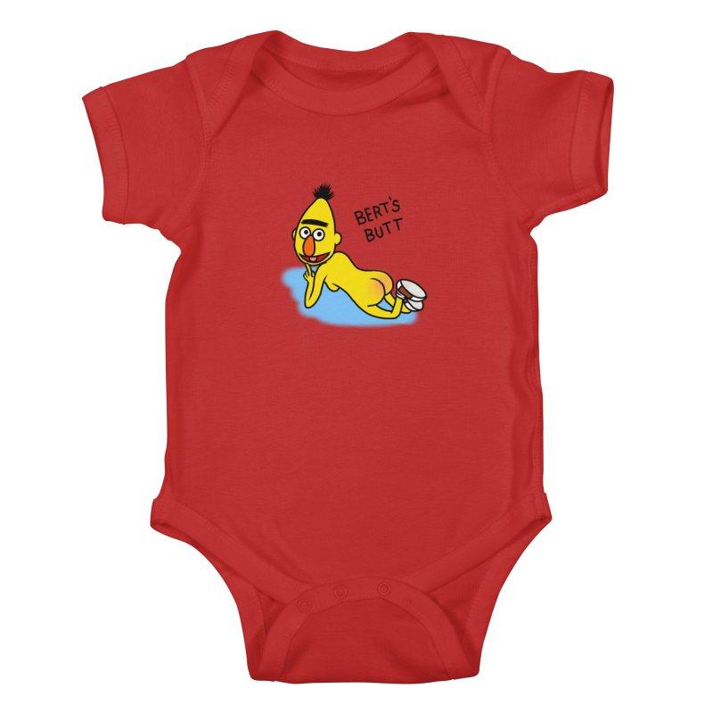 Bert's butt Kids Baby Bodysuit by Jim Tozzi
