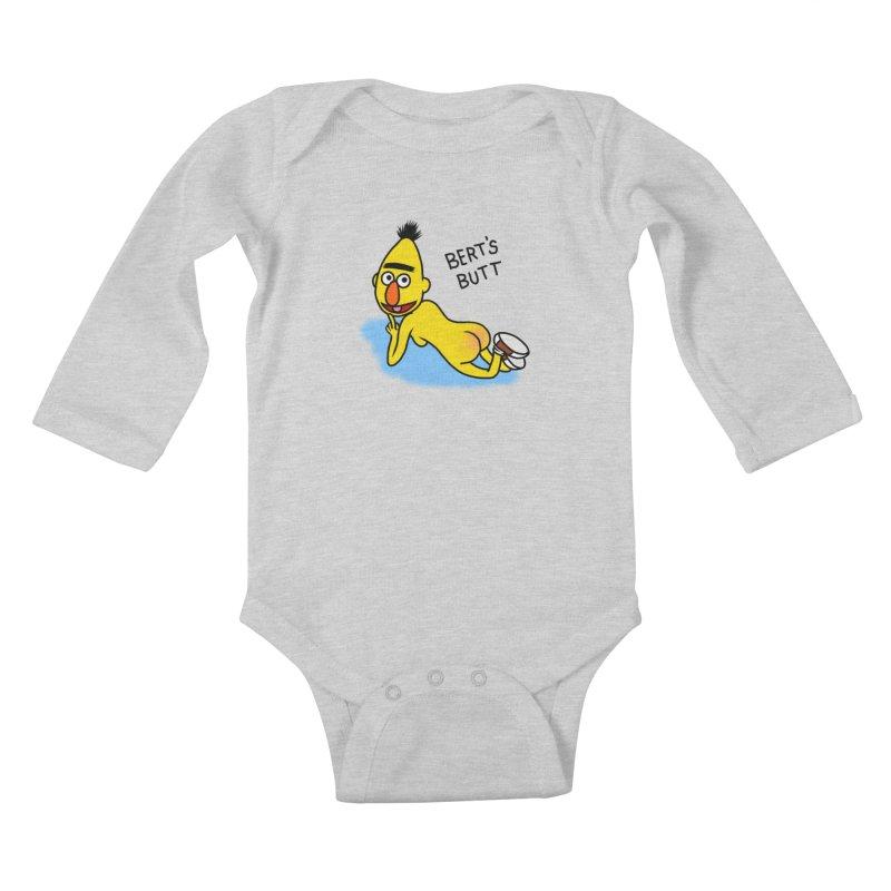 Bert's butt Kids Baby Longsleeve Bodysuit by Jim Tozzi