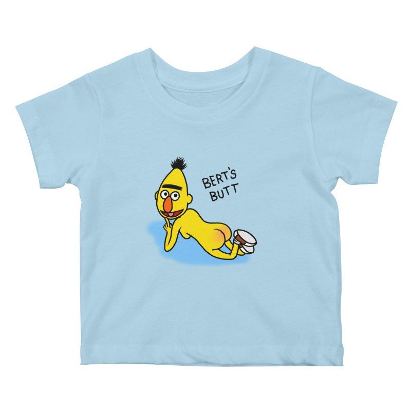 Bert's butt Kids Baby T-Shirt by Jim Tozzi
