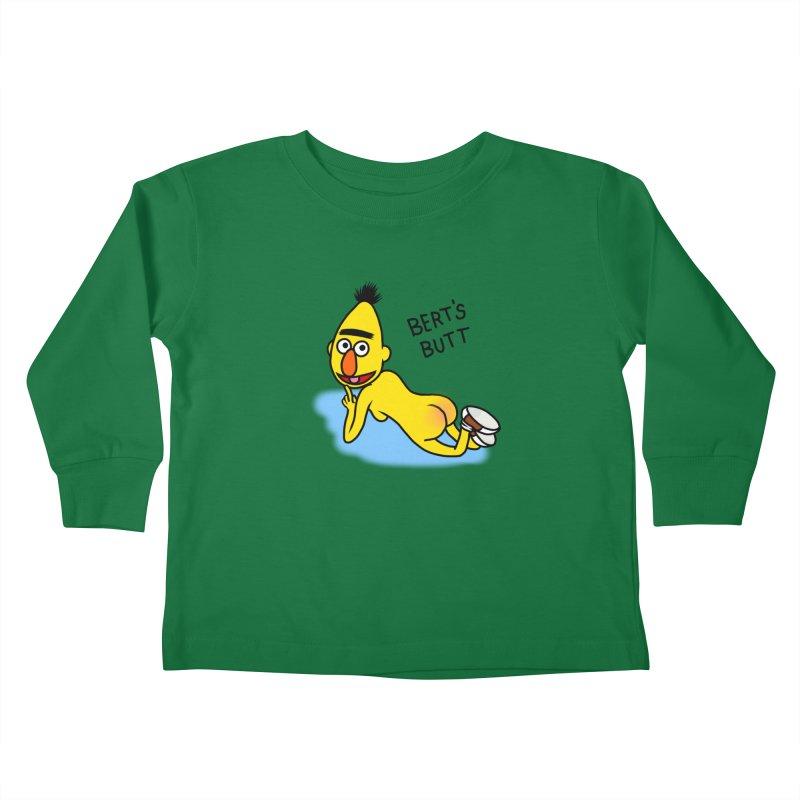 Bert's butt Kids Toddler Longsleeve T-Shirt by Jim Tozzi
