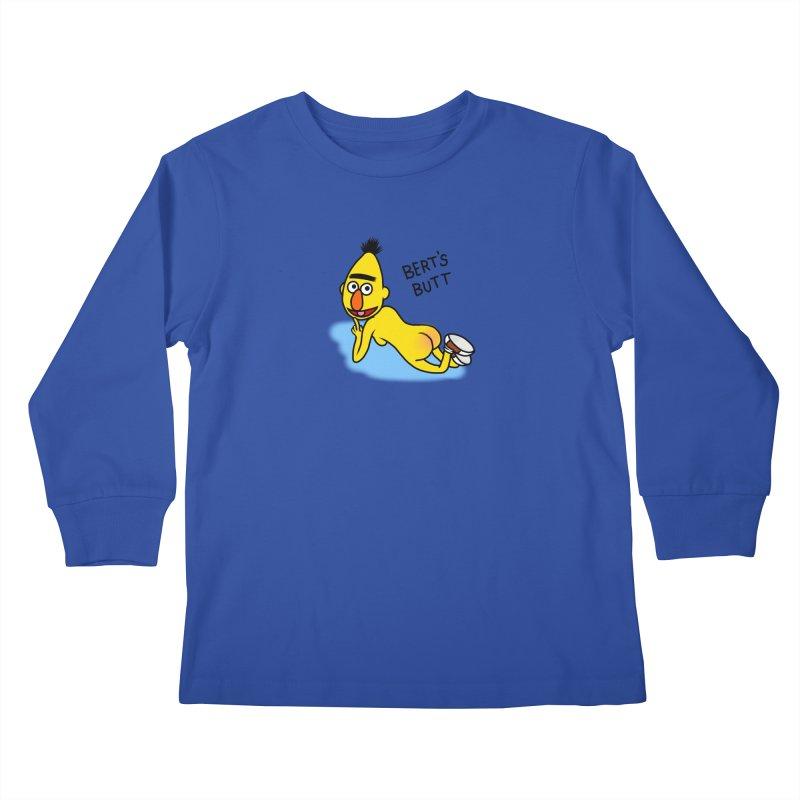 Bert's butt Kids Longsleeve T-Shirt by Jim Tozzi