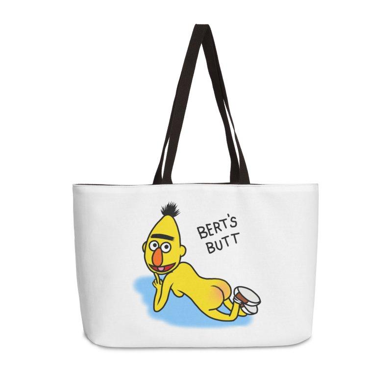 Bert's butt Accessories Weekender Bag Bag by Jim Tozzi