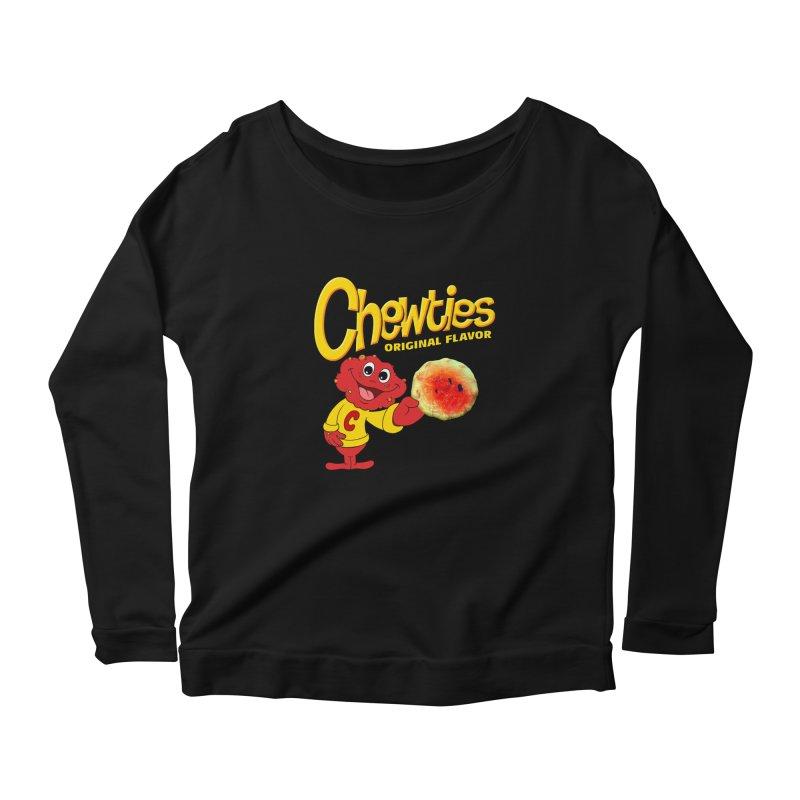 Chewties Women's Scoop Neck Longsleeve T-Shirt by Jim Tozzi