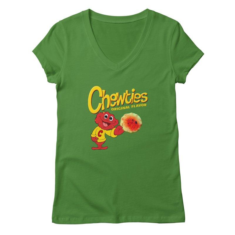 Chewties Women's Regular V-Neck by Jim Tozzi