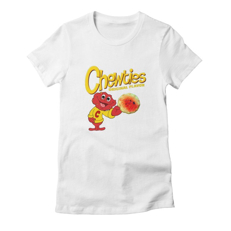 Chewties Women's Fitted T-Shirt by Jim Tozzi