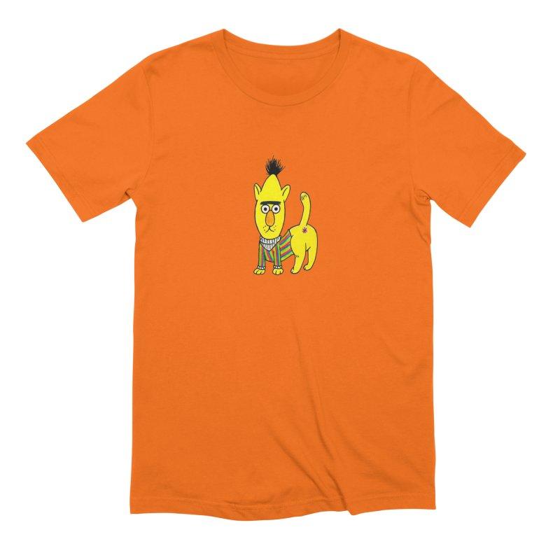 Bert's cat ass Men's Extra Soft T-Shirt by Jim Tozzi