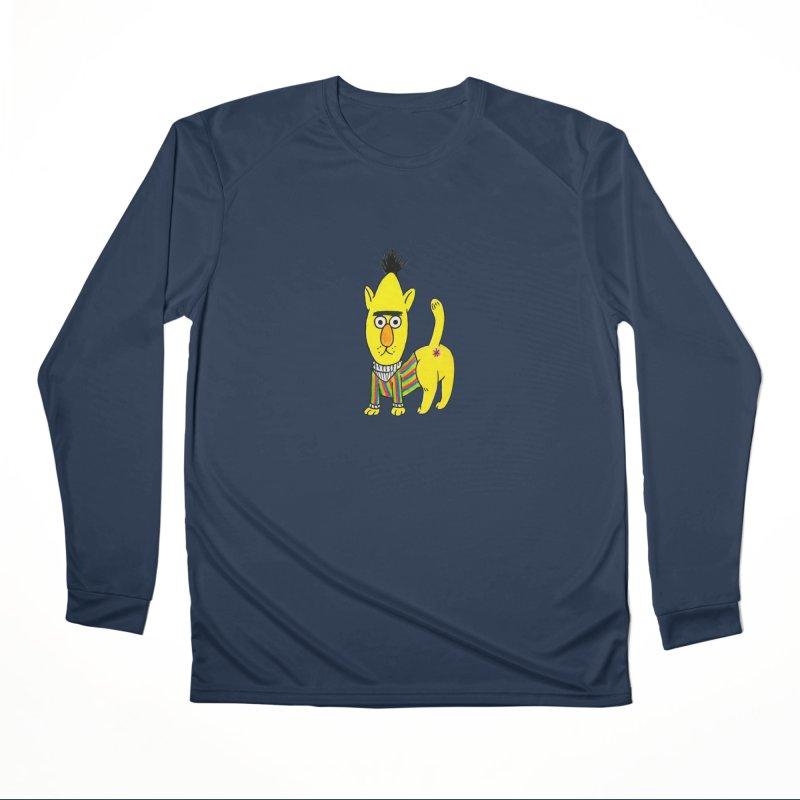 Bert's cat ass Men's Performance Longsleeve T-Shirt by Jim Tozzi