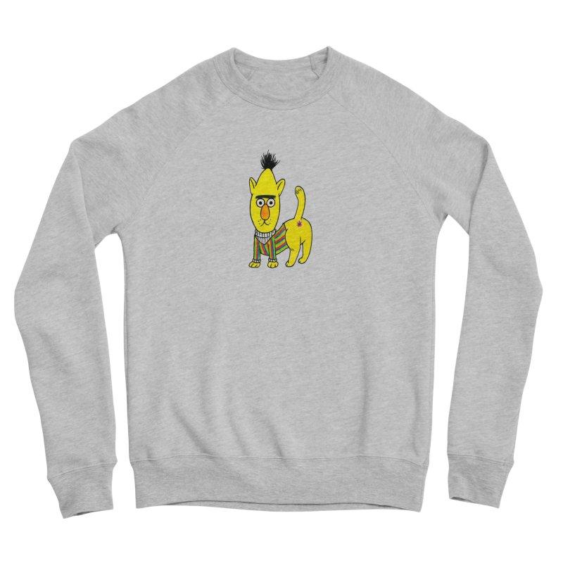 Bert's cat ass Women's Sponge Fleece Sweatshirt by Jim Tozzi