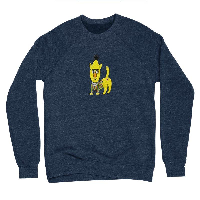 Bert's cat ass Men's Sponge Fleece Sweatshirt by Jim Tozzi