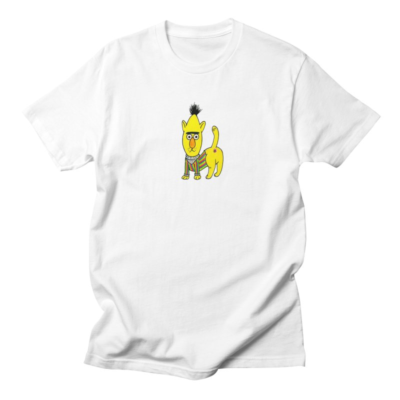 Bert's cat ass Men's Regular T-Shirt by Jim Tozzi