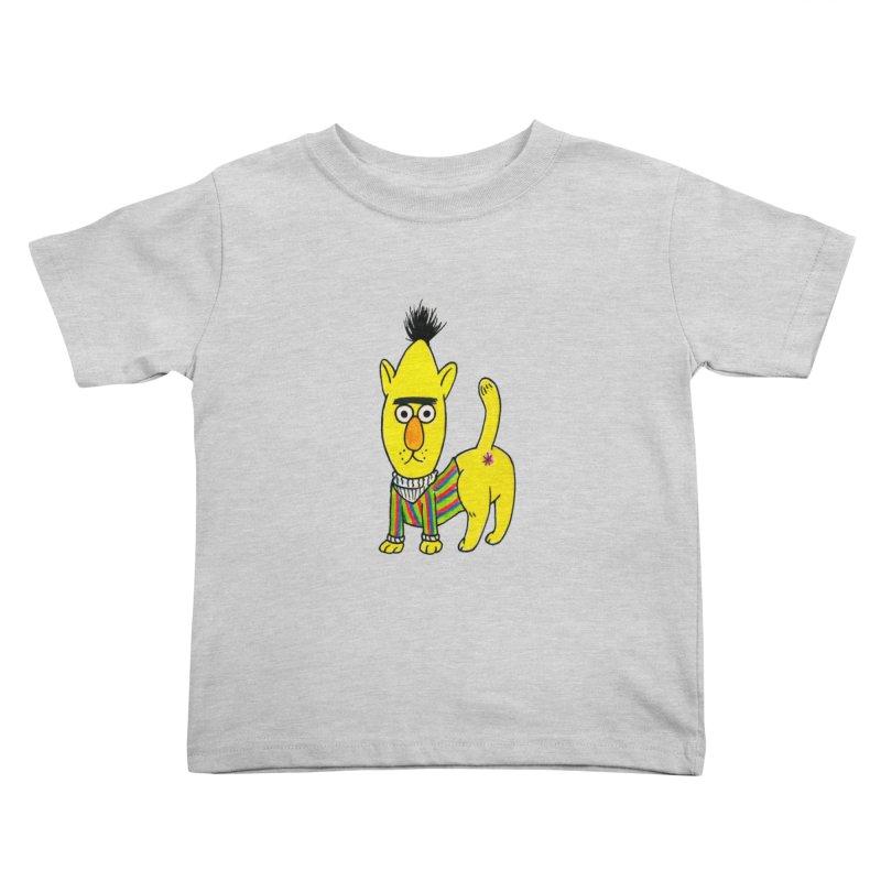 Bert's cat ass Kids Toddler T-Shirt by Jim Tozzi