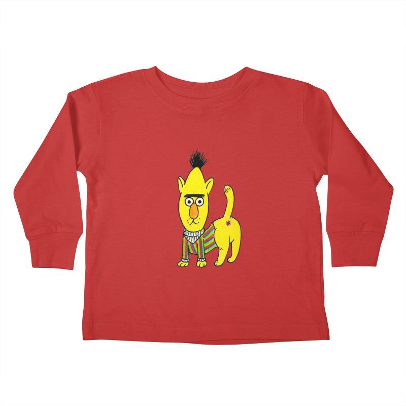 Bert's cat ass Kids Toddler Longsleeve T-Shirt by Jim Tozzi