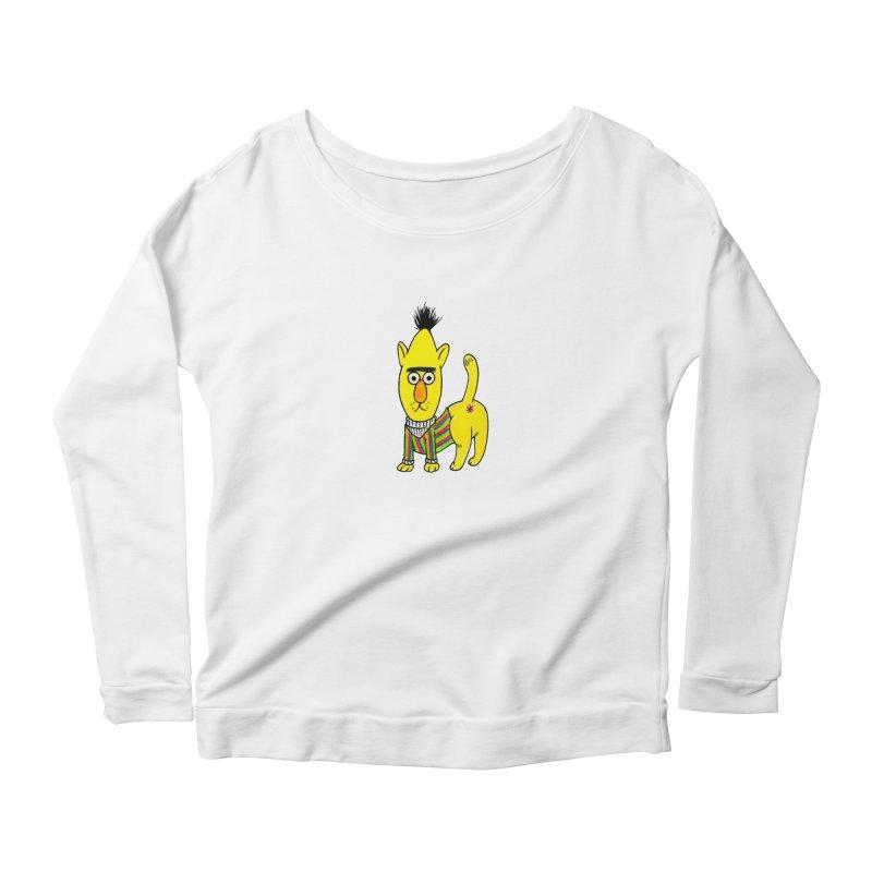 Bert's cat ass Women's Scoop Neck Longsleeve T-Shirt by Jim Tozzi
