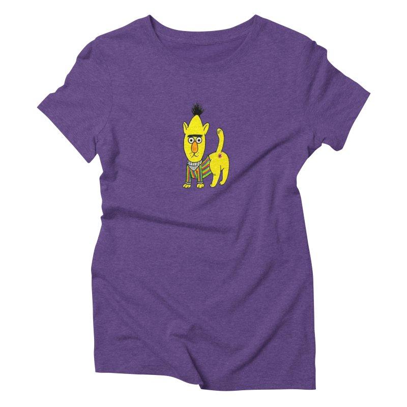 Bert's cat ass Women's Triblend T-Shirt by Jim Tozzi