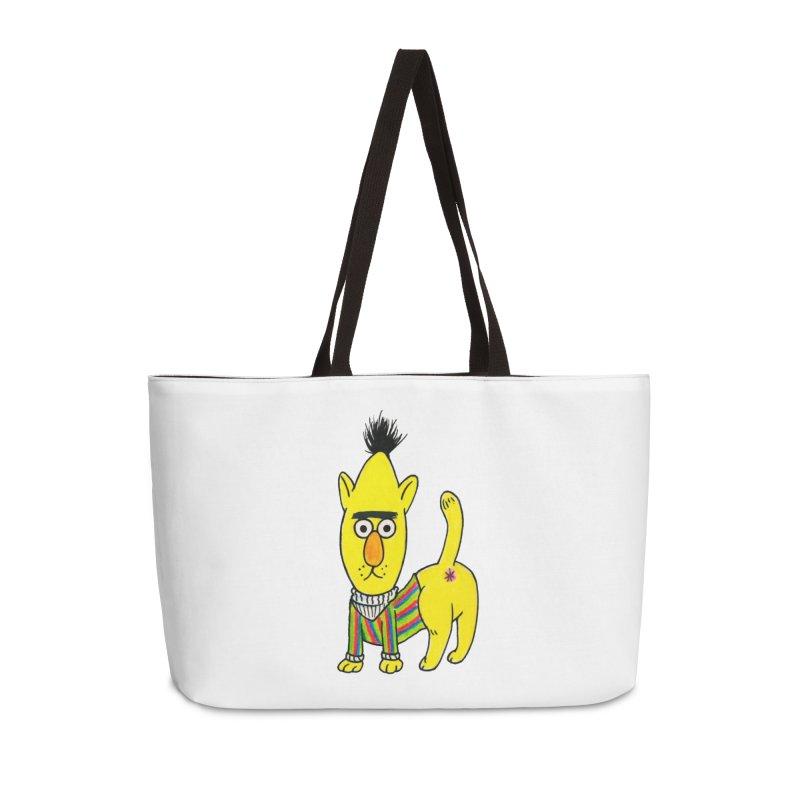 Bert's cat ass Accessories Weekender Bag Bag by Jim Tozzi