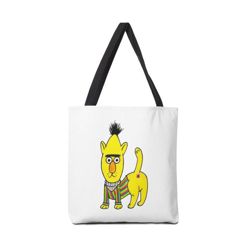 Bert's cat ass Accessories Tote Bag Bag by Jim Tozzi