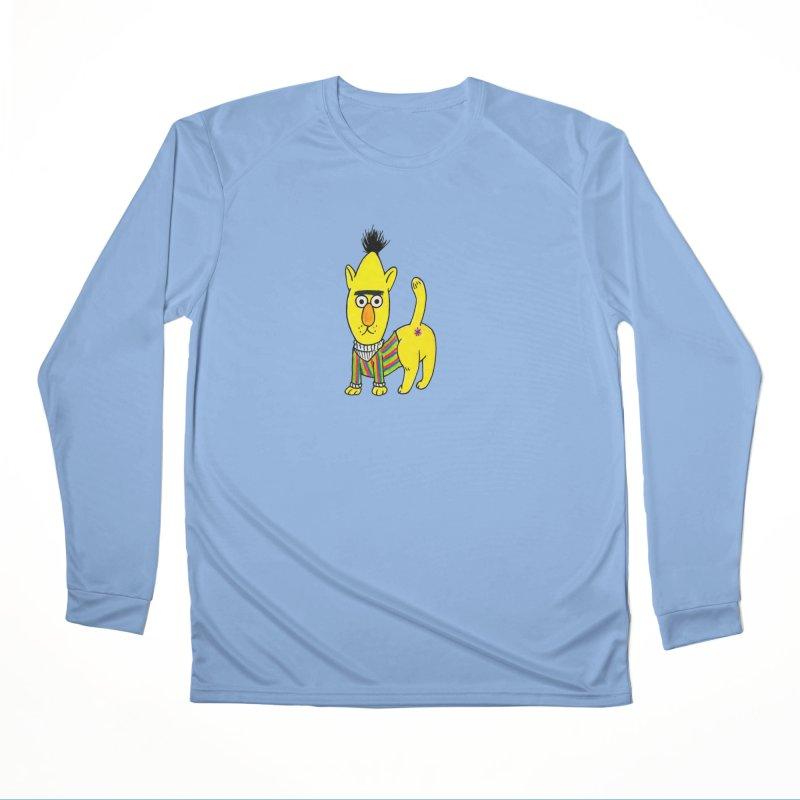 Bert's cat ass Men's Longsleeve T-Shirt by Jim Tozzi
