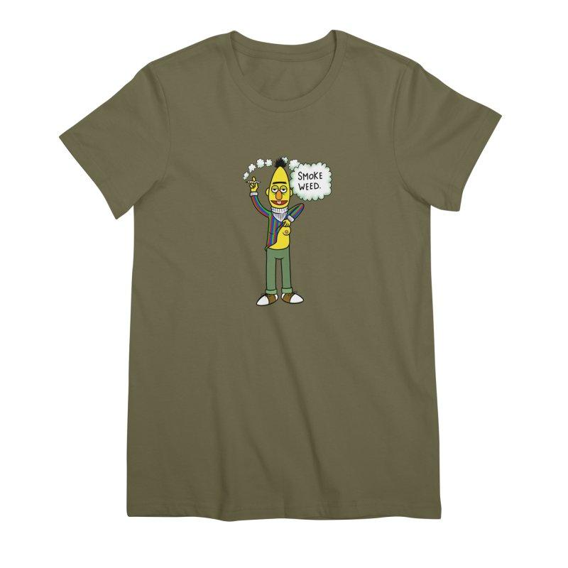 Smoke Weed Bert Women's Premium T-Shirt by Jim Tozzi
