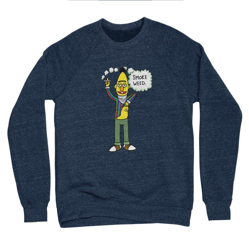Smoke Weed Bert Men's Sponge Fleece Sweatshirt by Jim Tozzi