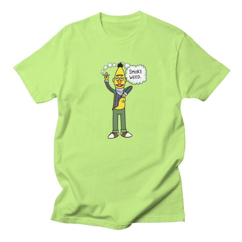 Smoke Weed Bert Men's Regular T-Shirt by Jim Tozzi