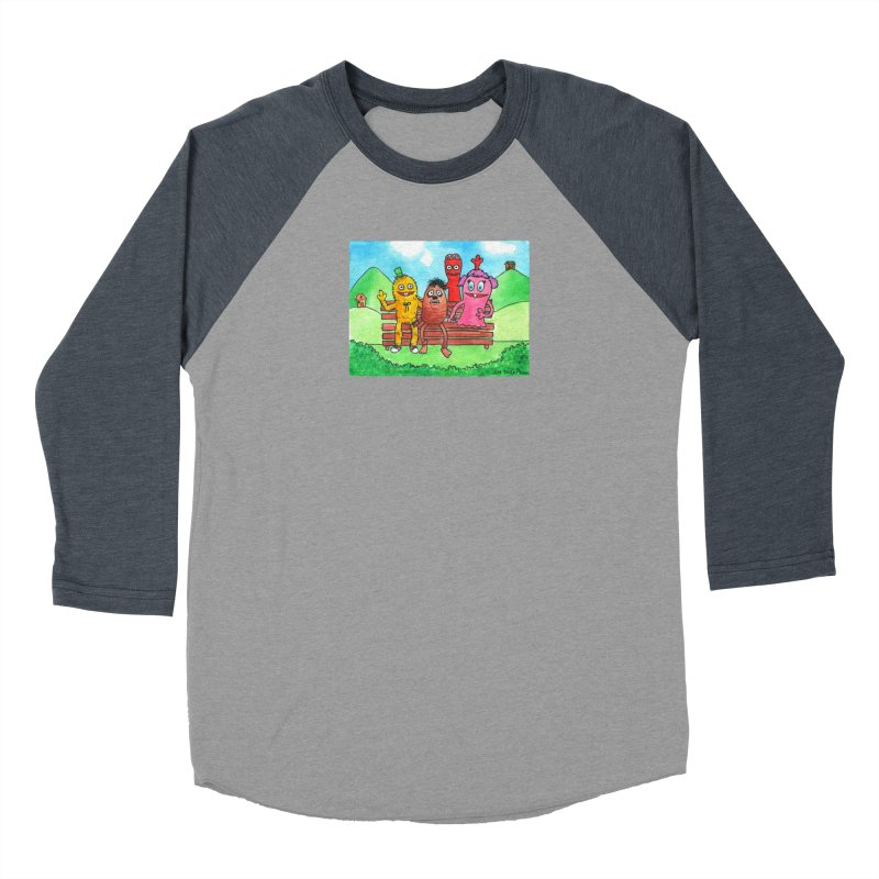 Wondershowzen gang Men's Baseball Triblend Longsleeve T-Shirt by Jim Tozzi