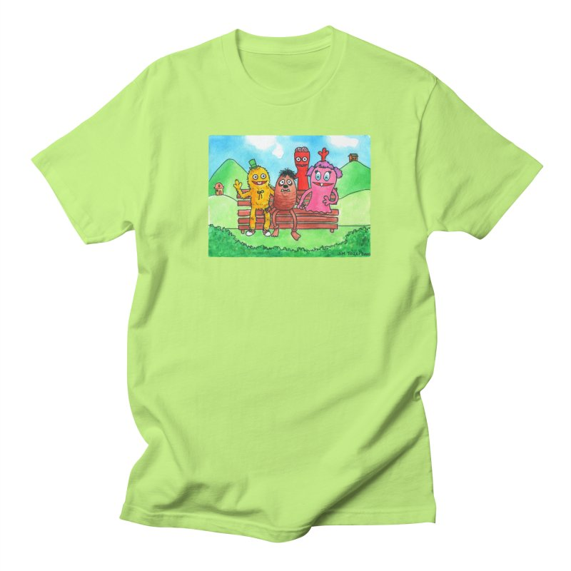 Wondershowzen gang Men's Regular T-Shirt by Jim Tozzi