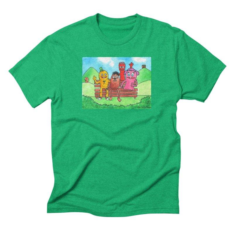 Wondershowzen gang Men's Triblend T-Shirt by Jim Tozzi