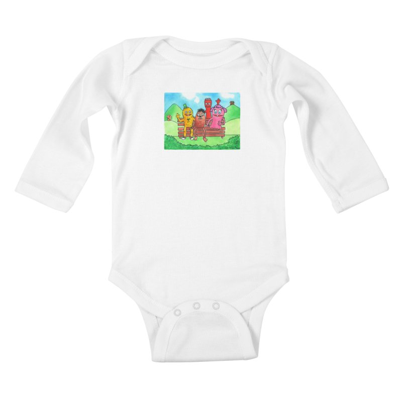 Wondershowzen gang Kids Baby Longsleeve Bodysuit by Jim Tozzi