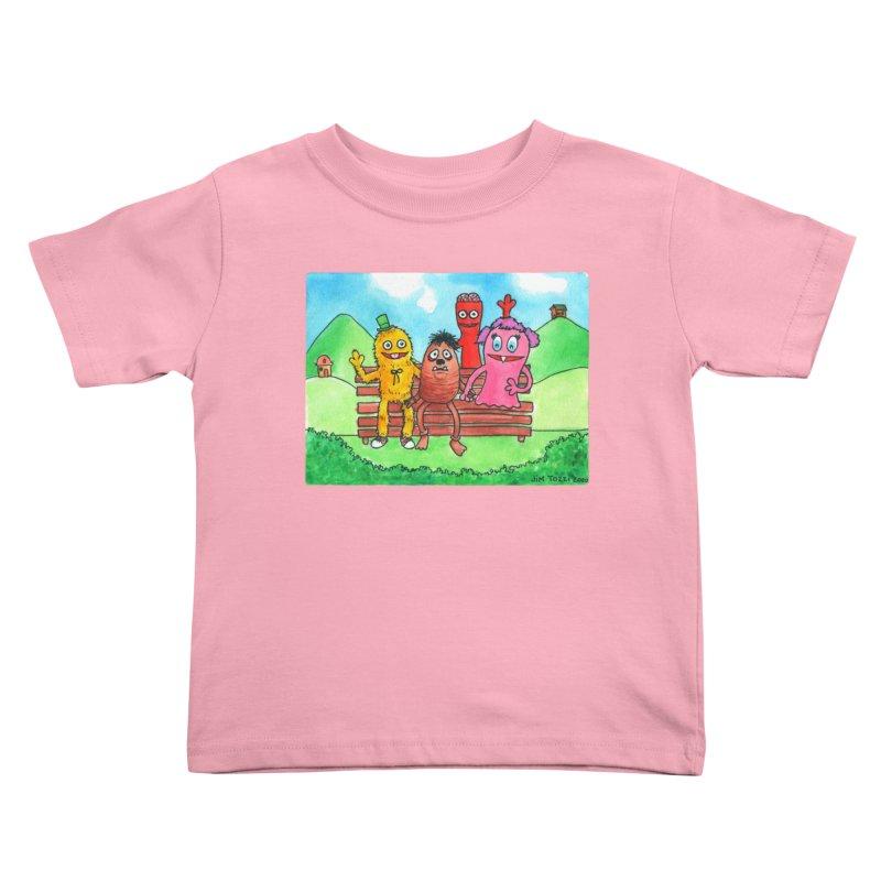 Wondershowzen gang Kids Toddler T-Shirt by Jim Tozzi