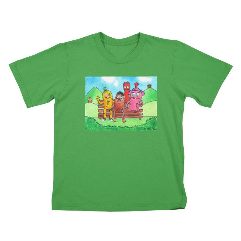 Wondershowzen gang Kids T-Shirt by Jim Tozzi