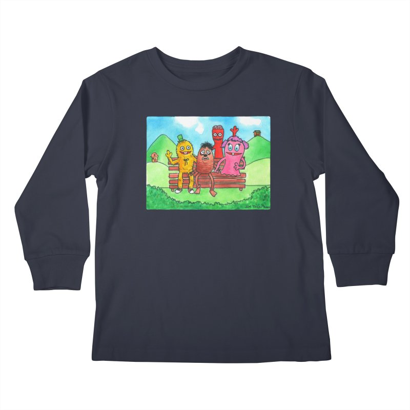 Wondershowzen gang Kids Longsleeve T-Shirt by Jim Tozzi