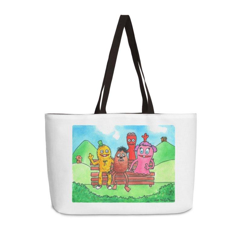 Wondershowzen gang Accessories Weekender Bag Bag by Jim Tozzi