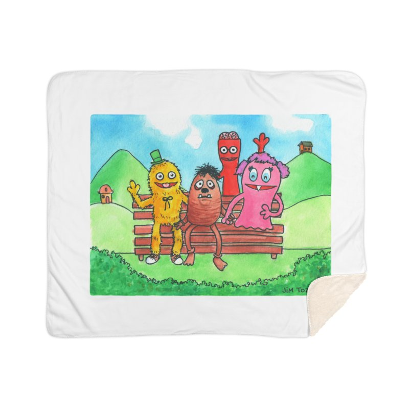 Wondershowzen gang Home Sherpa Blanket Blanket by Jim Tozzi