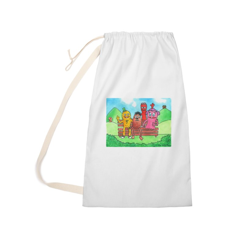 Wondershowzen gang Accessories Laundry Bag Bag by Jim Tozzi