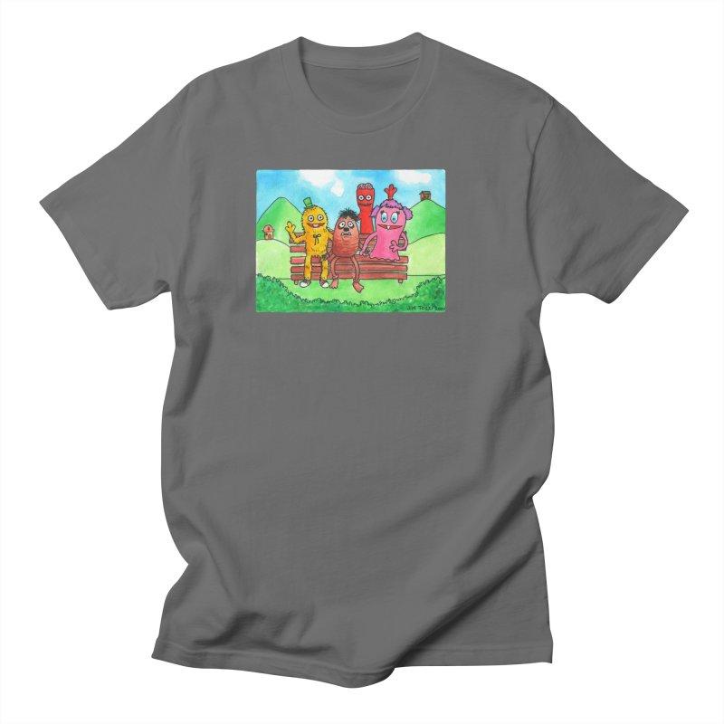 Wondershowzen gang Men's T-Shirt by Jim Tozzi