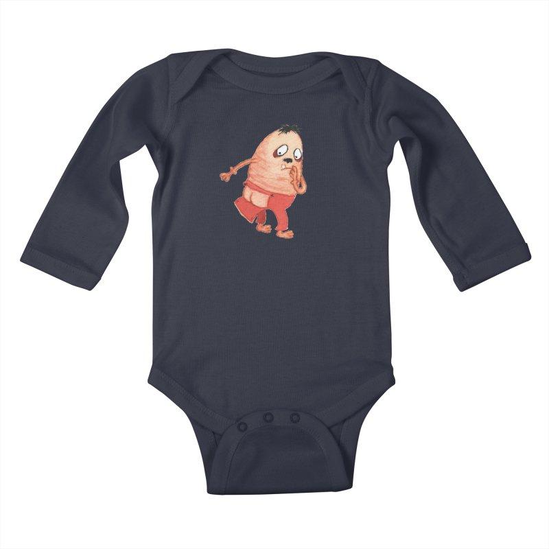 Hiimooops Kids Baby Longsleeve Bodysuit by Jim Tozzi