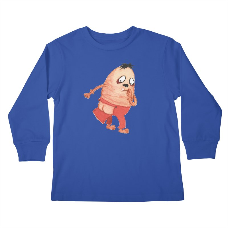 Hiimooops Kids Longsleeve T-Shirt by Jim Tozzi