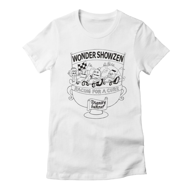 Racing For A Cure Women's Fitted T-Shirt by Jim Tozzi
