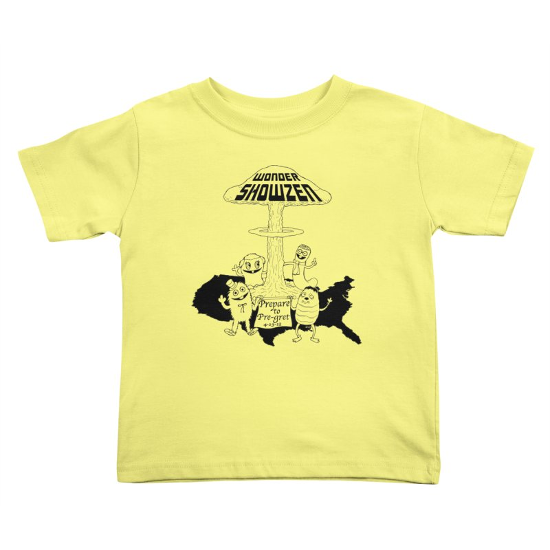 Wonder Showzen Prepare Kids Toddler T-Shirt by Jim Tozzi