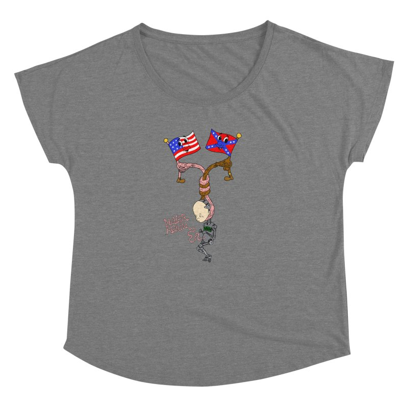 Never Again Women's Scoop Neck by Jim Tozzi