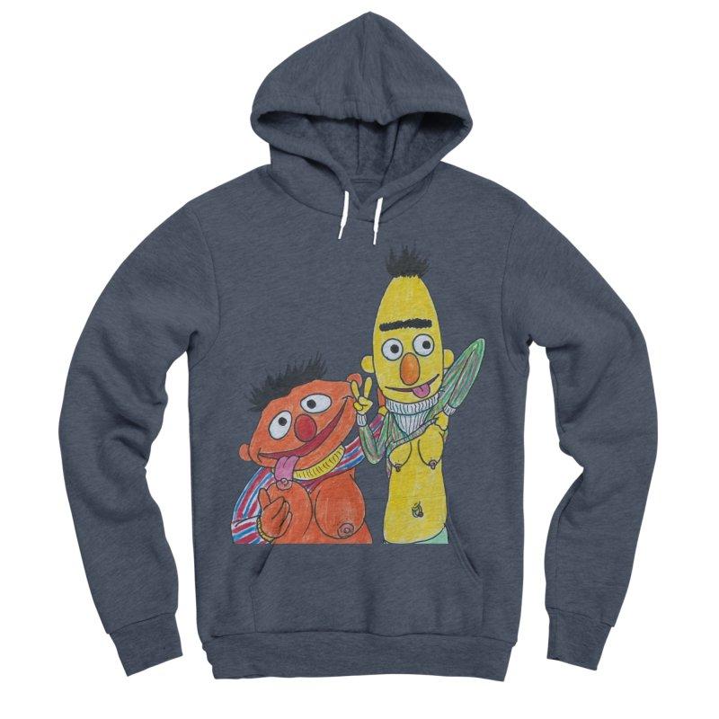 Nert and Bernie Men's Sponge Fleece Pullover Hoody by Jim Tozzi