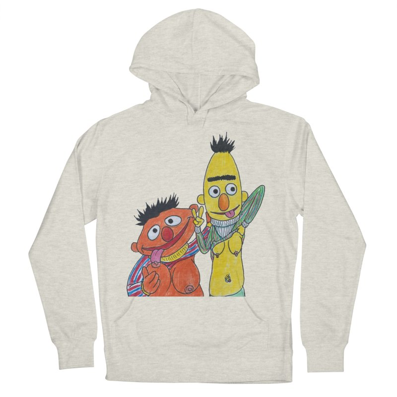 Nert and Bernie Men's French Terry Pullover Hoody by Jim Tozzi