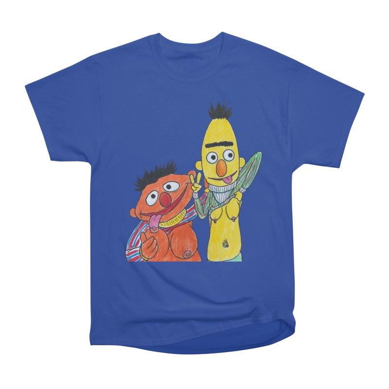 Nert and Bernie Men's Heavyweight T-Shirt by Jim Tozzi