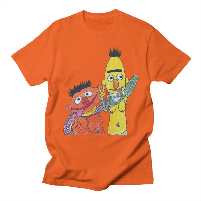 Nert and Bernie Men's Regular T-Shirt by Jim Tozzi
