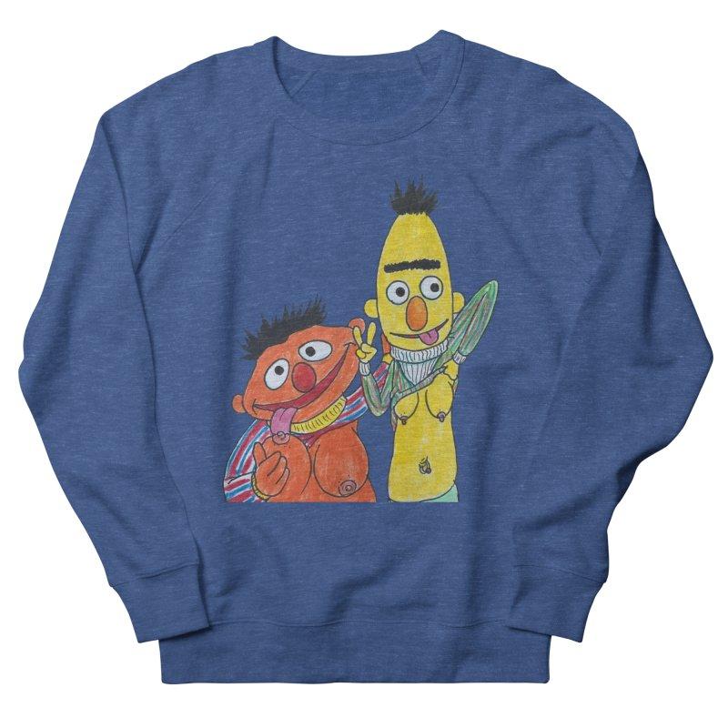 Nert and Bernie Men's French Terry Sweatshirt by Jim Tozzi