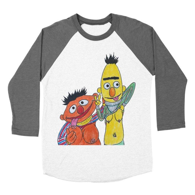 Nert and Bernie Men's Baseball Triblend Longsleeve T-Shirt by Jim Tozzi